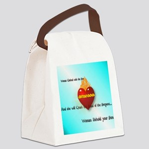 Immaculate Heart Canvas Lunch Bag