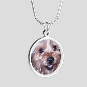 Maddies_Smile Silver Round Necklace