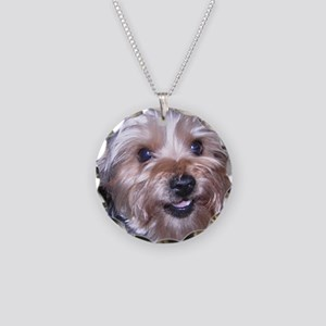 Maddies_Smile Necklace Circle Charm