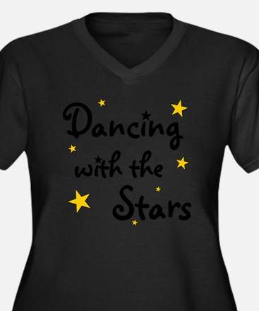 DWTS Women's Plus Size Dark V-Neck T-Shirt