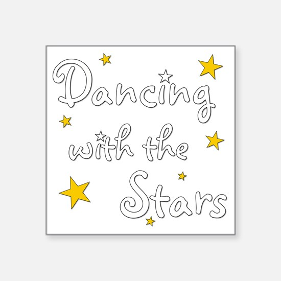 "DWTS Square Sticker 3"" x 3"""
