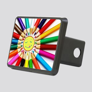 colorful pencils a Rectangular Hitch Cover