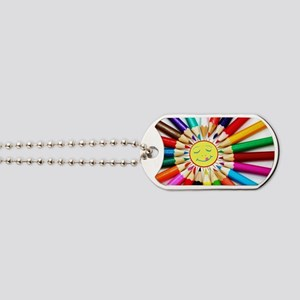 colorful pencils a Dog Tags