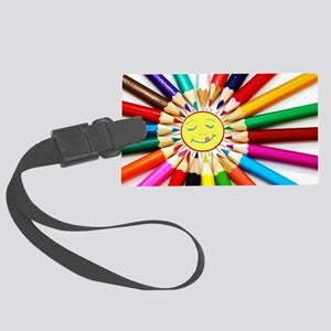 colorful pencils a Large Luggage Tag