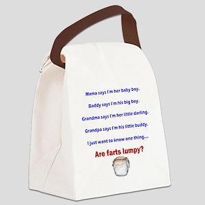 lumpy Canvas Lunch Bag