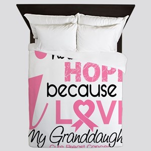 - Hope for my Granddaughter Breast Can Queen Duvet