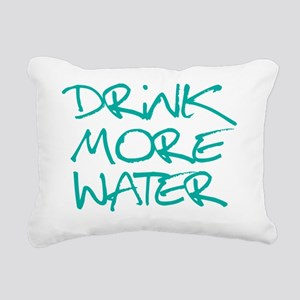 DrinkMoreWater_Blue2 Rectangular Canvas Pillow