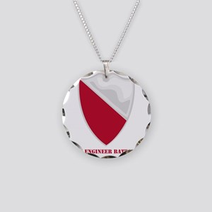 DUI-15-Engineer-Battalionwte Necklace Circle Charm