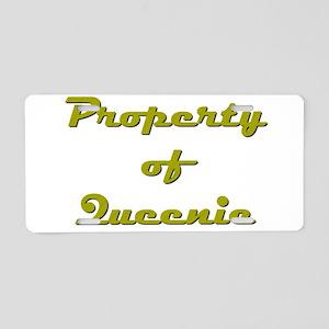 Property Of Queenie Female Aluminum License Plate