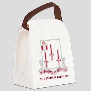 DUI-54th-Engineer-Bnwtext Canvas Lunch Bag