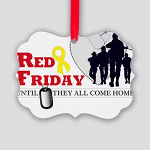 RED FRIDAY DESIGN Picture Ornament