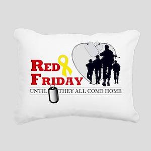 RED FRIDAY DESIGN Rectangular Canvas Pillow