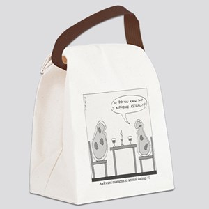 Awkward Moments in Animal Dating  Canvas Lunch Bag