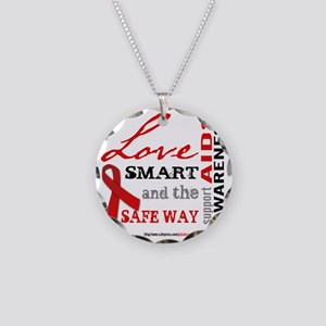aidsawareness_tshirtlightbac Necklace Circle Charm