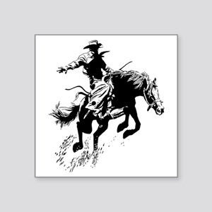 "bronc-bow Square Sticker 3"" x 3"""