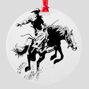 bronc-bow Round Ornament