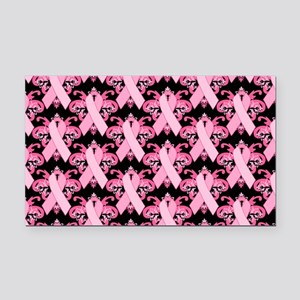 PinkRibHLLLPbLaptp Rectangle Car Magnet