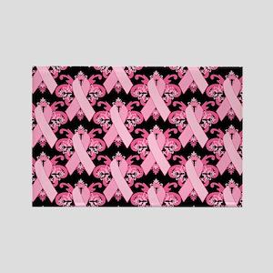 PinkRibHLLLPbLaptp Rectangle Magnet
