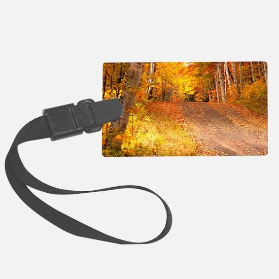 AutumnFoliageRural_9X12 Luggage Tag