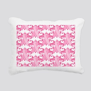 PinkRibHLLLPtBeBag Rectangular Canvas Pillow