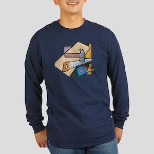 Carpentry Long Sleeve Dark T-Shirt