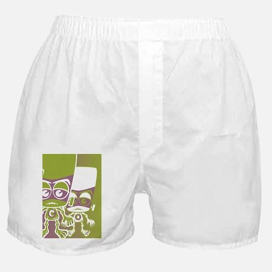 CreatureGreetCardStencilP Boxer Shorts