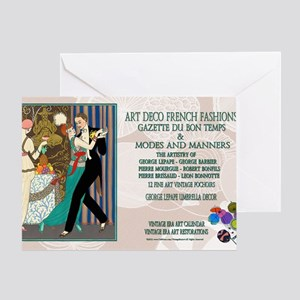 1 A BARBIER LA DANSE ADFF Greeting Card