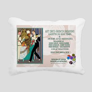 1 A BARBIER LA DANSE ADF Rectangular Canvas Pillow