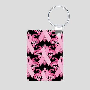 PinkRibHLLLPb443iph Aluminum Photo Keychain