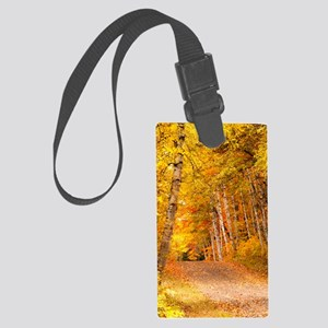 AutumnFoliageRural_10X14 Large Luggage Tag