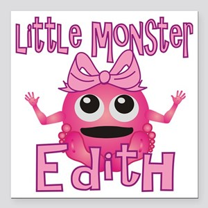 """edith-g-monster Square Car Magnet 3"""" x 3"""""""