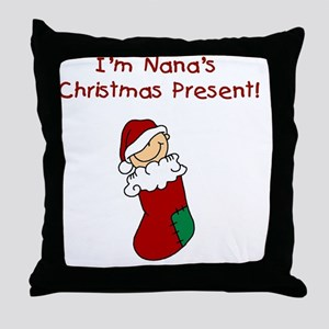 nanaschristmaspresent Throw Pillow