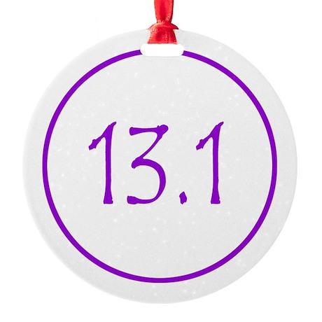 Purple 13.1 Round Ornament