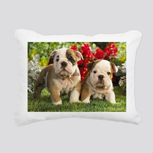 cute_bulldog_puppies_wid Rectangular Canvas Pillow