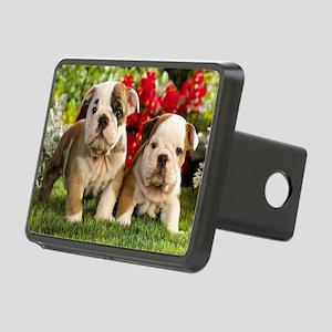 cute_bulldog_puppies_wide_ Rectangular Hitch Cover