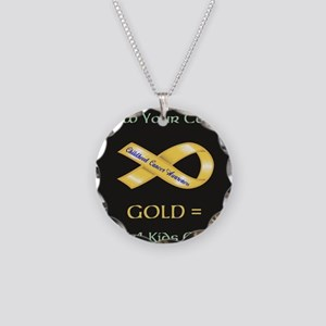 Know your colors -GOLD = Cur Necklace Circle Charm