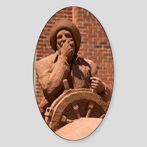 Charlottetown. Red sand sculpturerl Sticker (Oval)