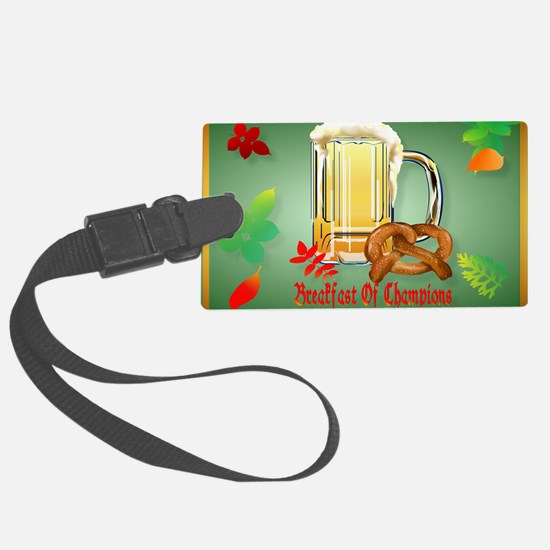 Beer and Pretzels-Breakfast of C Luggage Tag