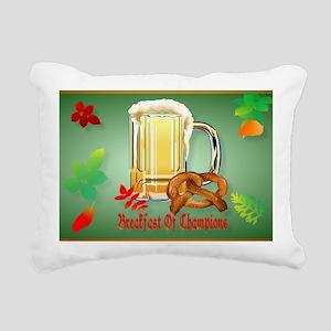 Beer and Pretzels-Breakf Rectangular Canvas Pillow