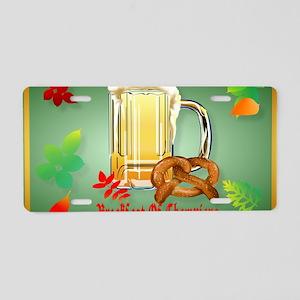 Beer and Pretzels-Breakfast Aluminum License Plate