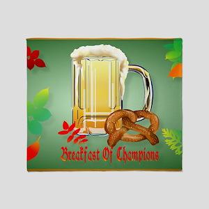 Beer and Pretzels-Breakfast of Champ Throw Blanket