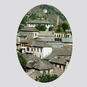 Albania, Gjirokaster, view of the to Oval Ornament