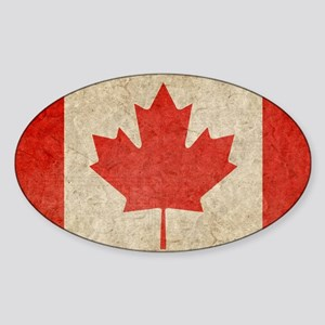 Canada Faded Shoulder Sticker (Oval)