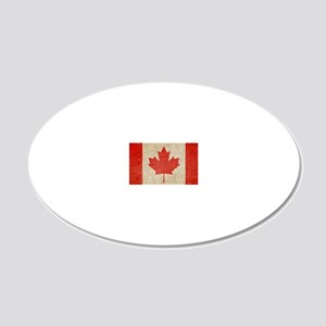 Canada Faded Shoulder 20x12 Oval Wall Decal