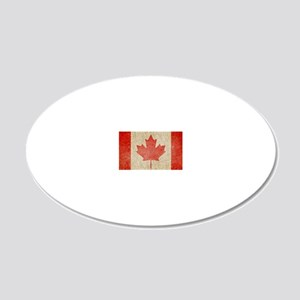 Canada Faded Coin 20x12 Oval Wall Decal