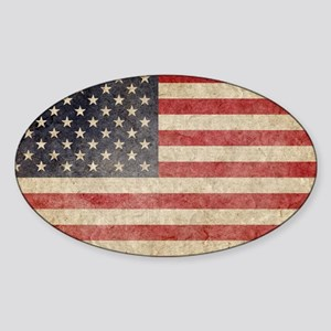 US Faded Coin Sticker (Oval)