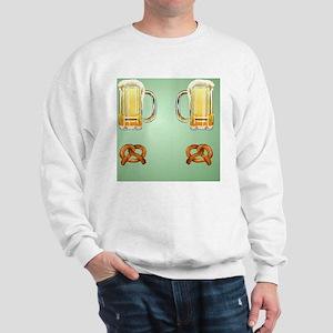 Flip Flops Beer and Pretzels Sweatshirt