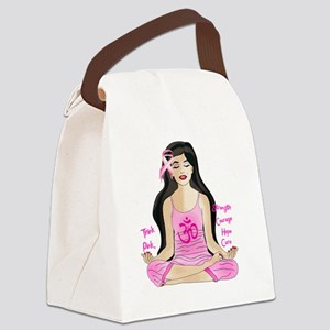 think_pink_2 Canvas Lunch Bag