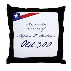 Austin's Old 300 Throw Pillow