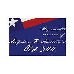 Austin's Old 300 Rectangle Magnet (100 pack)